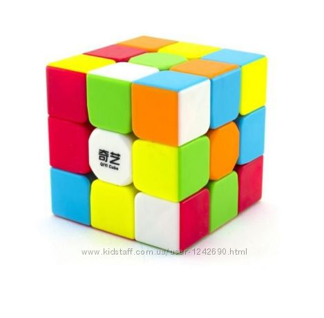 Кубик Рубика 3х3 Qiyi матовый цветной пластик