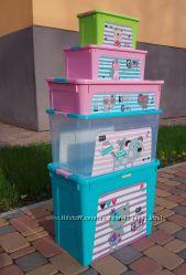Комплект контейнеров для игрушек Pet для девчонок