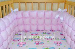 Мягкие бортики-бомбоны в детскую кроватку