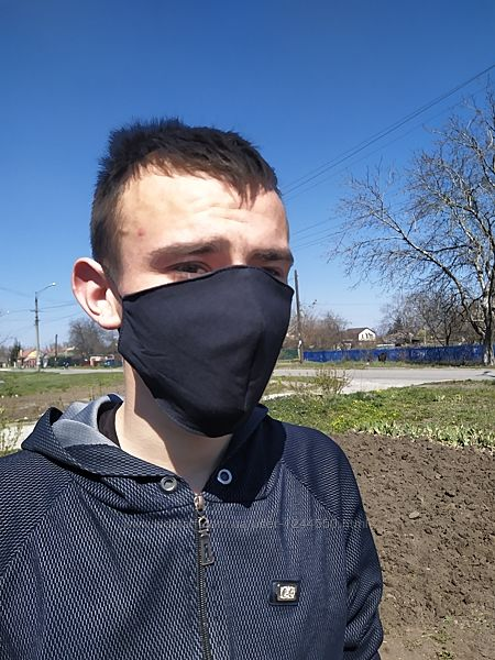 Многоразовая защитная маска черная
