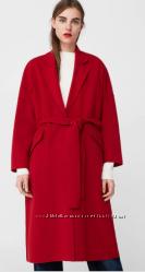 Шерстяное пальто халат Mango. Размер S.