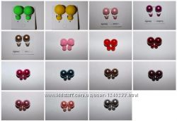 Сережки пусеты-гвоздики-матрешки копия Dior, с камнями и без