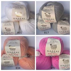 Продам детскую зимнюю пряжу gazzal baby wool