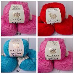 Продам пряжу gazzal baby wool XL