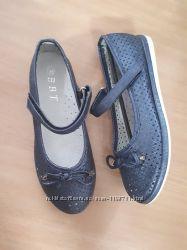 Туфли,  балетки синие 33 - 36р