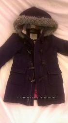 Пальто зимнее 4-5-6 лет на морозы шерсть Англия