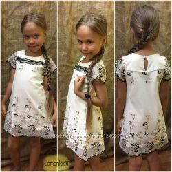 Платья для девочки 5 лет бежевое Турция Распродажа