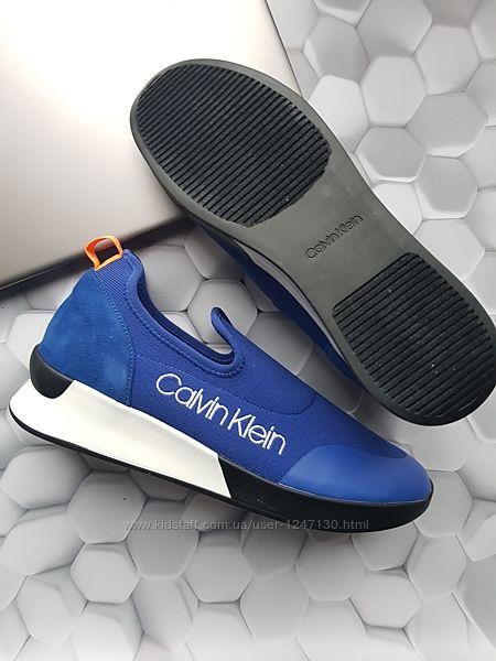 Синие кроссовки бренд Calvin Klein р. 39, 5 made in Vietnam