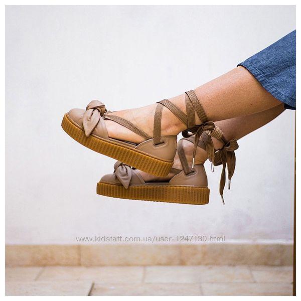 Кожаные босоножки, балетки бренд Fenty byRihannaPumaр.38