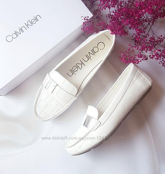Белые мокасины бренд Calvin Klein р.40