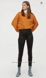 супер стрейч джинсы с завышенной талией H&M