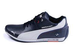 Мужские кожаные кеды Puma BMW MotorSport P1 blue