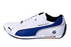 Мужские кожаные кеды Puma BMW MotorSport белые