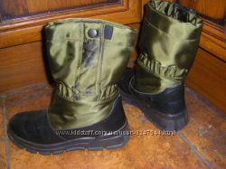 Осень-зима, непромокаемые и кожаные термоботинки  33-35 р.