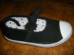 Модные туфельки кожа для малышек, стелька 13, 5 - 19, 5 см