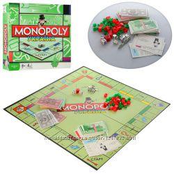 Настольная игра 6123 UA 24шт Монополия, жетоны, карточки, кубики, в кор-ке,