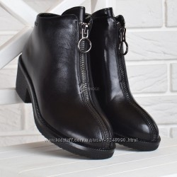 Ботинки женские кожаные на каблуке Vicont Украина