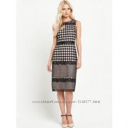 Miss Selfridge Geo Lace Pencil Women Dress Стильное платье на 82 66 90