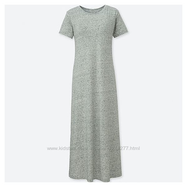 Uniqlo WOMEN SHORT-SLEEVE LONG BRA DRESS Платье со встроенным bra XS
