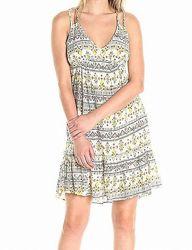 Платье-сарафан Jessica Simpson NEW White Ivory Womens Size XS Aztec Ruffle