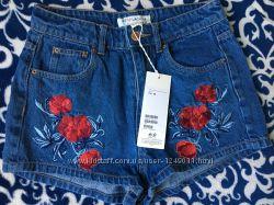 Джинсовый с вышивкой шорты H&M