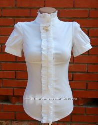 Красивые белые блузки для девочек