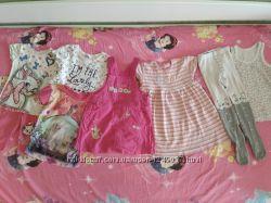 Пакет классных фирменных вещей на девочку 2-3 лет на лето