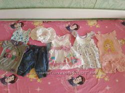Пакет летних вещей для девочки 1 год