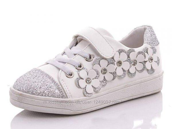 Деми туфли, кеды Yalike глиттерные блестящие цветы