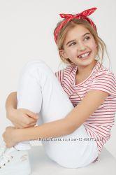 Суперстрейчевые белые джинсы-скинни от бренда H&M разм. 170 14 лет