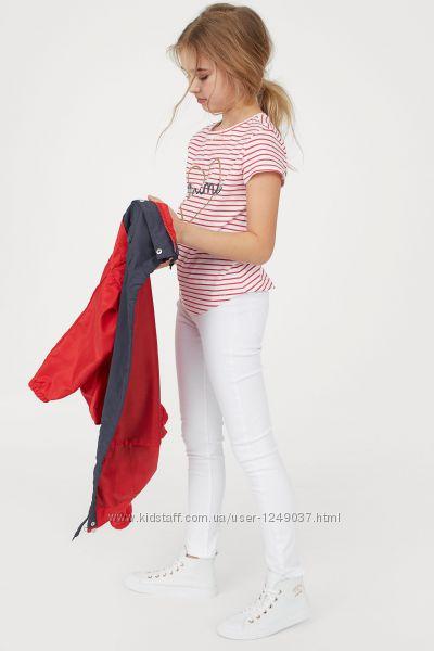 Суперстрейчевые белые джинсы-скинни от бренда H&M оригинал