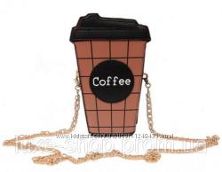 Сумочка Кофе - Оригинальная женская сумка Кросс-боди