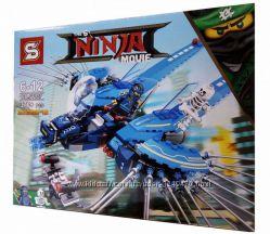 Конструктор Ниндзя муви Ninja movie SY927 Самолет молния Джея, 370 дет.