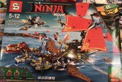 Конструктор Ниндзя муви Ninjago movie SY893 Летающий корабль ниндзя, 849дет