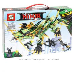 Конструктор Ниндзя Ninjago movie SY918 Механический Дракон Зеленого Ниндзя
