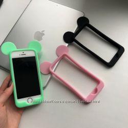 Силиконовый бампер ушки Mouse для iPhone  55S
