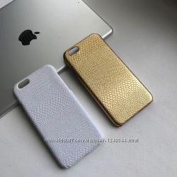 Чехол пластиковый кожа змеи iPhone 66s