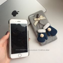 Чехол пластиковый с варежками на iPhone 66S, 7