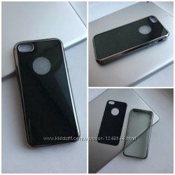 Силиконовый чехол Блестки на Iphone 55S