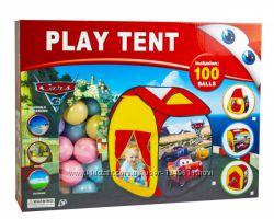 Палатка детская с шариками , Холодное Сердце, Тачки, с тоннелем Play Tent