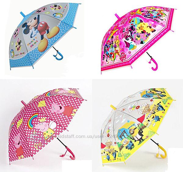 Зонт яркий детский с героями Disney зонтик мальчику девочке