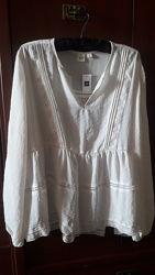 Новая шикарная белая блузка Gap размер ХЛ