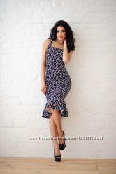 Платье миди на завязках новое