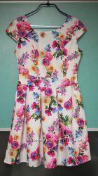Платье на лето в цветочный принт