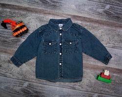 Рубашка, шведка на мальчика 1-2 года