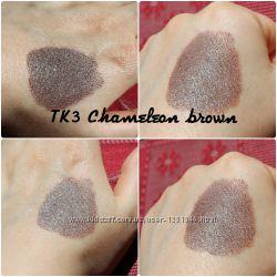 Минеральные тени ручной работы  Brown chameleon