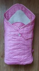 Конверт-одеяло на меху для новорожденных