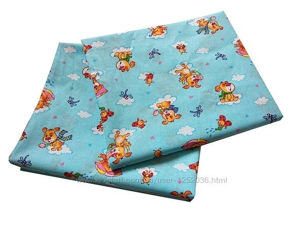 Ситцевые пеленки для новорожденных 100х110