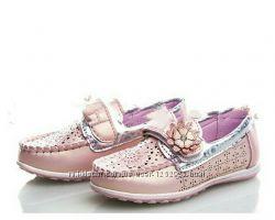Очень милые туфли-мокасины для принцесс, Y Top, 26-31рр. Реал фото