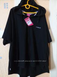 Женская футболка на молнии с короткими рукавами LA Gear США Раз. 3XL